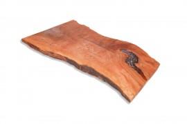Tischplatte Platanenholz-Epoxidharz
