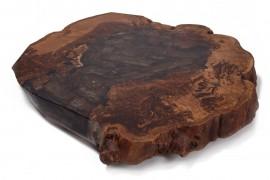 Couchtisch Platte Kastanien-Epoxidharz-Typ-1