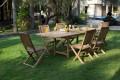 Gartenmöbel mit klappbaren Stühle