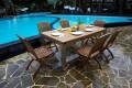 Gartenmöbel mit klappstühlen