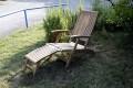 Gartenliegestuhl im Garten