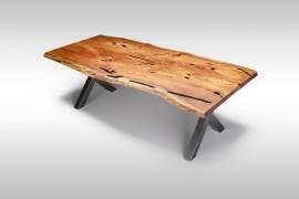 Naturholz Tisch aus Ulmenholz & Epoxidharz UN080