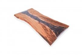 Tischplatte Kastanien-Epoxidharz-III inkl. stahl beine