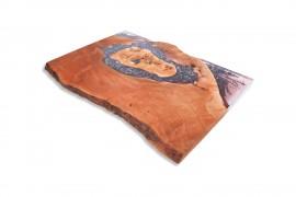 Tischplatte Platanenholz-Epoxidharz - II