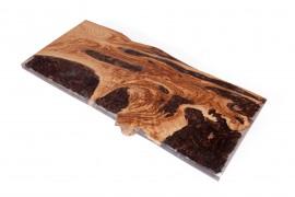 Tischplatte Kastanien-Epoxidharz-I