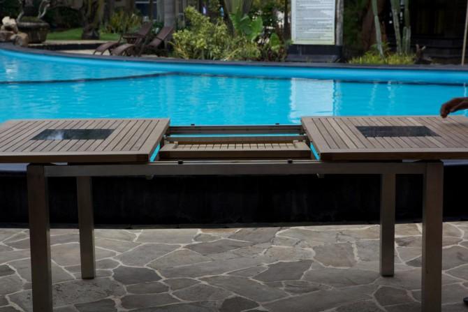 Gartentisch Ausziehbar und Pool