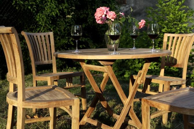 Massivholz Stuhl ohne Armlehnen