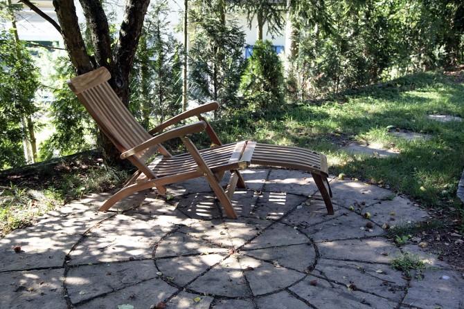 Garten liegestuhl für 365 Tage