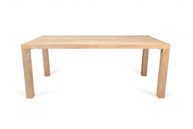 Tisch einfach, Holztisch, Massivholz Tisch, Vollholztisch, Tisch gebürstet, Tisch 4 beinen, Tisch indoor, Tisch für Innen, Esszimmer Tisch, Tisch robust,