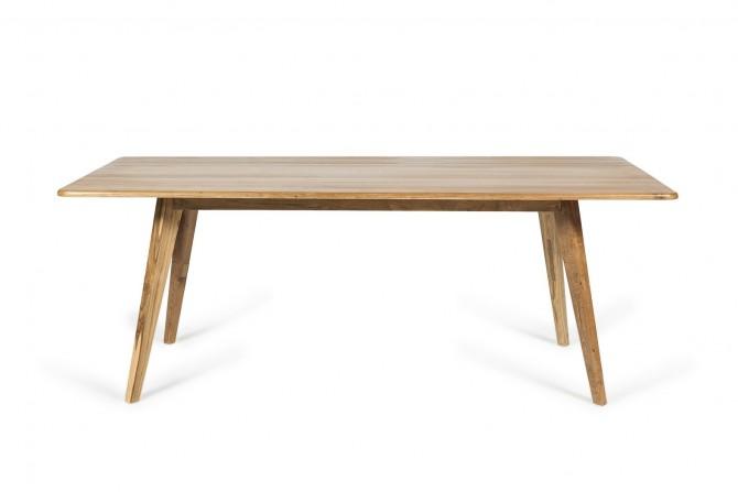 Holztisch für Innen, Tisch Indoor, Vollholztisch für Essen, Esstisch, Tisch recycled Holz, Gastronomie
