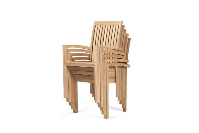 Massivholz Stuhl stapelbar