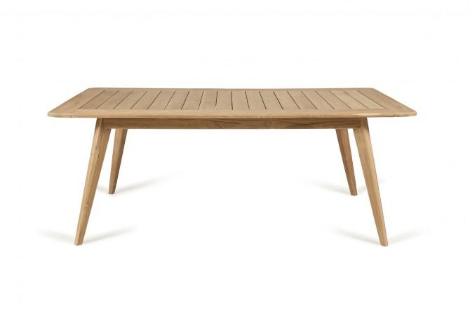 Tisch wetterfest, Tisch vollholz für Garten, Holztisch für Gastro, Tisch für Gastronomi