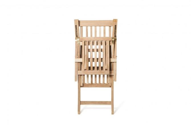 teak gartenmöbel - liegestuhl