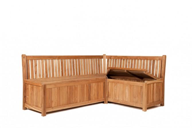 eckbank truhe aus teakholz. Black Bedroom Furniture Sets. Home Design Ideas