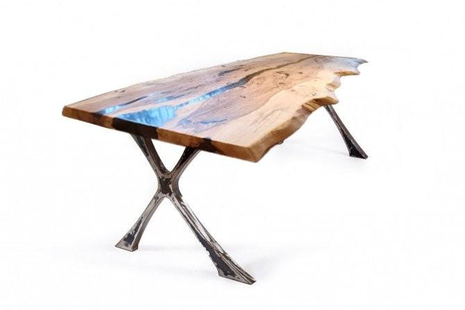 esstisch,massivholz tisch,tisch mit kunstharz,eichenholz tisch,