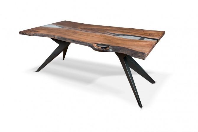 esstisch massivholz, naturkante esstische, esstisch mit epoxidharz,