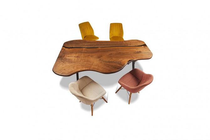 essgruppe, esstisch, esszimmermöbel, nussholztisch