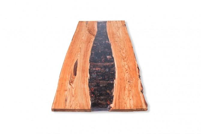 massivholzmöbel , kastanienholz tischplatte , river ,wasserfall