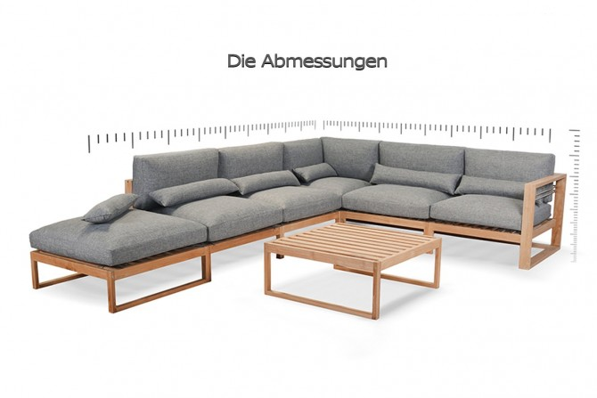 massivholzmöbel , loungemöbel aus Teakholz