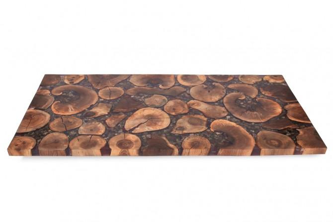 walnussholz, epoxidharz ,tischplatte