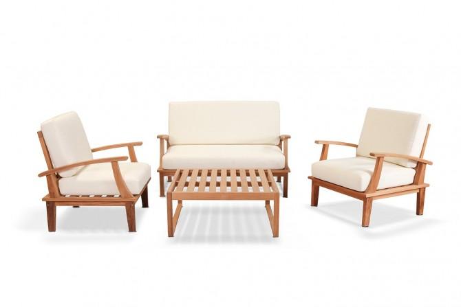 Sitzgruppe,outdoor bereich,loungemöbel,gartenmöbel,garten,teakholz,aus Teakholz