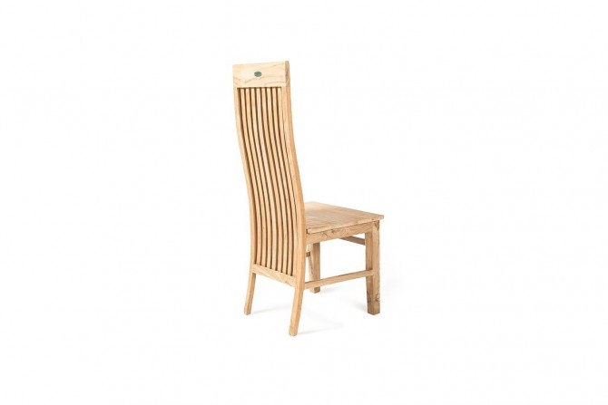 Teakholz Stuhl ohne Armlehne