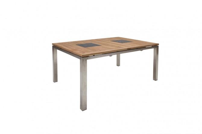 Gartentisch Sonomo Aus Teakholz und Edelstahl