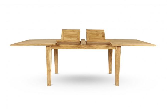 Tisch auszieh, Holztisch ausziehbar, Holztisch zum Vergrössern, Vollholz Tisch zum erweitern, Tisch mit Einsteckplatte, Echtholztisch