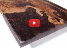 Massivholz Tische mit Kunstharz