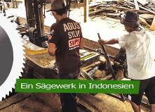 Ein Sägewerk in Indonesien